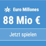 88 Mio EUR-Jackpot knacken bei Euro Millones: Hier 5 EUR Aktionsrabatt!