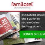 Sichern Sie sich einen 25 EUR Bonus bei familotel