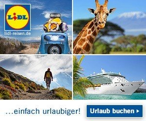 Beim Newsletter Gewinnspiel von Lidl haben Sie jetzt die Chance, insgesamt 4 Lidl Reise-Gutscheine im Wert von je 250 EUR zu gewinnen! Viel Glück!