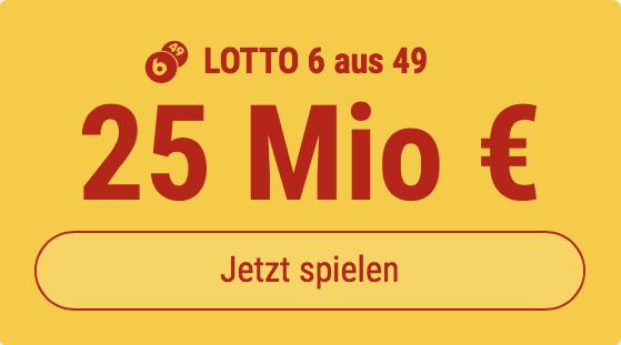 6 Tippfelder im Mittwochs-Lotto ausfüllen, nur 1 Tippfeld bezahlen ... bei Tipp24 bekommen Neukunden 5 Tippfelder GESCHENKT. Sie bezahlen nur 1 Tippfeld!