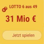 31 Mio EUR-Jackpot knacken im Mittwoch-Lotto: Hier 5 Tippfelder KOSTENLOS!