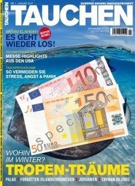 Für nur 9,40 EUR gibt es jetzt ein Jahresabo vom TAuchermagazin TAUCHEN. Somit sparen Sie bis zu 65 EUR gegenüber dem Normalpreis von 74,40 EUR.