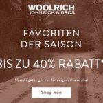 Bis zu 40 Prozent Rabatt im Woolrich Winter Sale