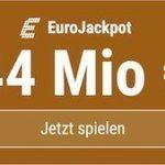 HEUTE 44 Mio. EUR im EuroJackpot -> 5 von 6 Tippfeldern KOSTENLOS!