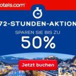 72 Stunden Sale bei Hotels.com – bis zu 50% sparen