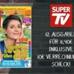 12 Ausgaben SUPER TV effektiv 1,40 EUR