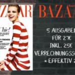 5 Ausgaben Harpers Bazaar für effektiv 2 EUR
