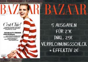 5 Ausgaben des Fashionmagazins Harpers Bazaar für effektiv 2 statt 27 EUR. Lesen Sie Berichte aus dem Bereich Fashion, Beauty, Lifestyle und Living.