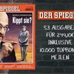 Jahresabo Der Spiegel inklusive 10.000 Topbonus Meilen für einen Flug innerhalb Europas