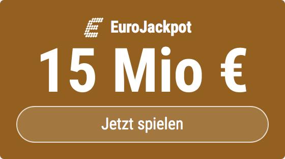 Im EuroJackpot werden 15 Millionen EUR ausgespielt. Bei Tipp24 erhalten Neukunden10 EUR für ihren ersten Tippschein geschenkt. MITMACHEN!