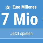 17 Mio EUR-Jackpot knacken mit 6 EUR Aktionsrabatt bei Euro Millones!