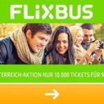 Österreich Aktion bei FlixBus: für nur 9,99 EUR in 7 Nachbarländer