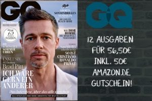 Das GQ Abo jetzt besonders günstig: Für effektiv nur 6,50 EUR ein Jahr lang die GQ selber lesen oder als attraktives Präsent verschenken!