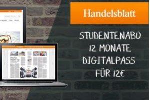 Studenten können jetzt 12 Monate lang Handelsblatt Digipass für 12 EUR testen! Bestellen und stets mit aktuellen News versorgt werden!