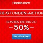 Beim 48 Stunden Sale bei Hotels.com bis zu 50 Prozent sparen