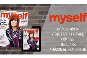 """MYSELF-Abo für effektiv 2 EUR insgesamt (!!) inkl. Versand und Digital Upgrade! Ideal als Geschenk, dem man die """"Kosten"""" nicht einmal ansieht!"""