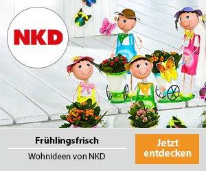 Sichern Sie sich jetzt beim NKD Gewinnspiel einen 1.000 EUR Einkaufs-Gutschein! 99.999 weitere Gewinner erhalten einen 10 EUR Einkaufs-Gutschein.
