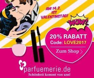 Noch bis zum 14.02.2017 dürfen Sie sich bei parfuemerie.de über einen 20 Prozent Valentins-Rabatt freuen. Shoppen Sie Düfte und Kosmetik mit Rabatt!