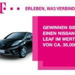 Telekom: Nissan Leaf GEWINNEN, Wert 35.000 EUR