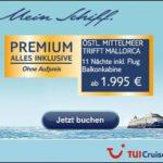 TUI Cruises: Wochen-Angebote bis zum 21.02.2017
