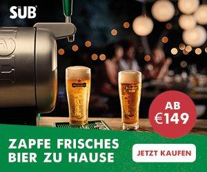 """Die Heimzapfanlage""""The Sub"""" von Krups ermöglicht Ihnen perfekten Biergenuss daheim: Kinderleicht zu bedienen und mit vielen Premium-Sorten!"""