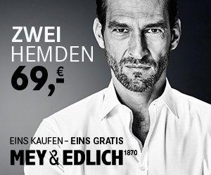 Mey und Edlich Aktion 2 für 1 zwei Produkte zum Preis von einem bestellen