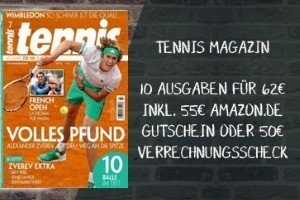 Testen Sie 10 Ausgaben Tennismagazin für nur effektiv 7 EUR statt 62 EUR. Lesen Sie interessante Reportagen von Tennisstars sowie informative Produkttests.