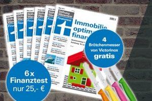 """Halbjahresabo Finanztest für knapp 25 EUR. Exklusiv dazu gibt es noch das Finanztest-Special """"Familien""""-Set (Wert 12,95) sowie Victorinox 11,96 gratis dazu."""