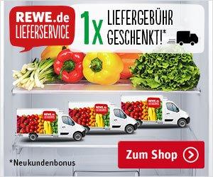 Für den Lebensmittel-Lieferservice von REWE bekommen sie HIER eine Liefergebühr geschenkt! Außerdem werden 3 VESPA verlost und 10 Einkaufsgutscheine.