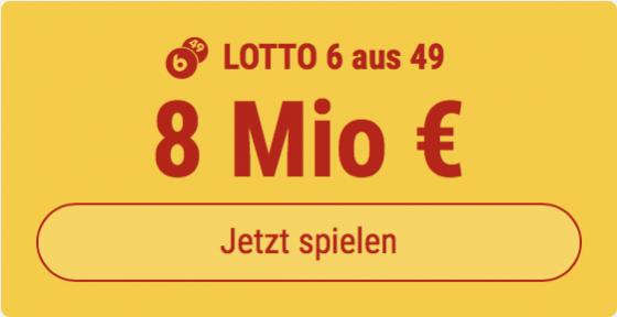 6 Tippfelder im Lotto 6 aus 49 ausfüllen und den Jackpot knacken - aber nur 1 EUR bezahlen: Bei Tipp24 bekommen Neukunden 5 Tippfelder GESCHENKT.