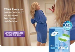 Inkontinenz, Wasserverlust, Blasenschwäche? Tena Lady Pants sind speziell für die Aufnahme wässriger Tröpfchen gemacht. Sichern Sie sich eine GRATIS Probe.