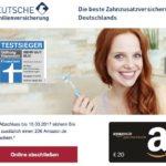 Testsieger-Zahnzusatzversicherung abschließen: 20 EUR Amazon-Gutschein als Prämie!