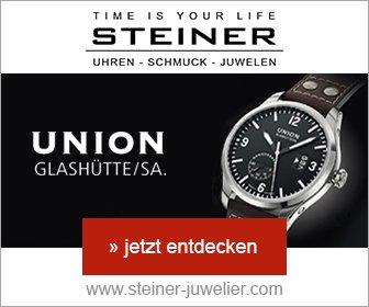 Bei Juwelier Steiner erhalten Sie für kurze Zeit 8% Rabatt auf Armbanduhren der Marken Tag Heuer, Union Glashütte, Bruno Söhnle, Junghans, Oris und Alpina.