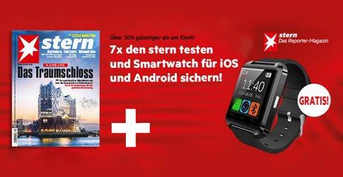 Sichern Sie sich jetzt ein STERN Abo mit einer kostenlosen Smartwatch als Prämie: 7 Ausgaben frei Haus für nur 20,90 EUR!