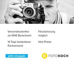 Mit einem aktuellen Foto Koch Gutschein können Sie beim Kauf von Kameras und Photographie-Bedarf jeder Art immer wieder sparen!