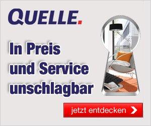 Der Quelle Shoppingtag ist immer eine tolle Chance zum Sparen: Derzeit erhalten Sie einen Gutschein im Wert von 15 EUR auf viele Produkte!