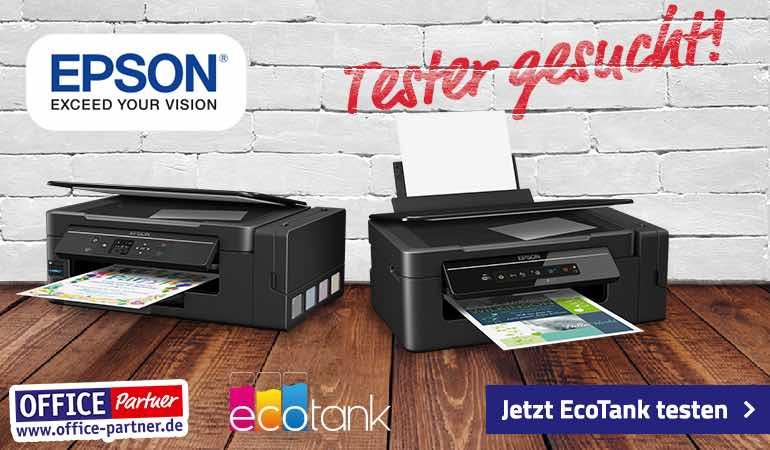 Mit ein wenig Glück können Sie jetzt bei Office Partner Epson Drucker-Produkttester werden. Einfach bewerben, und mit ein wenig Glück dabei sein.