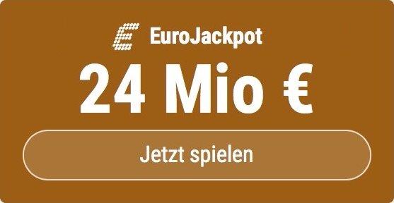 Im EuroJackpot werden 24 Millionen EUR ausgespielt. Bei Tipp24 zahlen Neukunden nur 2,50 EUR statt 12,50 EUR für ihren ersten Tippschein. JETZT MITMACHEN!