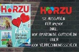 Lesen Sie das bekannte Fernsehmagazin Hoerzu im Jahresabo für unglaublich günstige 4,40 EUR. Stets informiert bleiben über das wöchentliche TV-Programm.