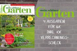 4 Ausgaben Mein schöner Garten gibt es jetzt für effektiv 6 EUR statt 16 EUR. Das Miniabo verschafft Ihnen eine Überblick über tolle Gartenideen.