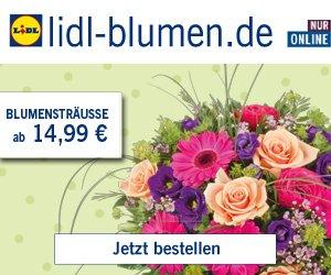 """Verschenken Sie am 14. Mai zum Muttertag Blumen und nutzen Sie dazu den 20% Frühbucher-Rabatt von Lidl; z. B. mit dem Blumenstrauß """"Mama ist die Beste"""" ;-)"""