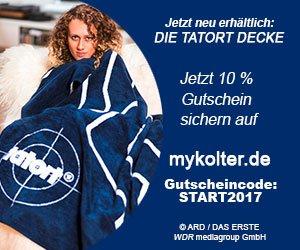 Kuschelige TATORT-Decke mit 10% Rabatt kaufen: Faire Produktion in Deutschland, hochwertige Materialien, streng limitierte Designs, 3 Jahre Garantie!