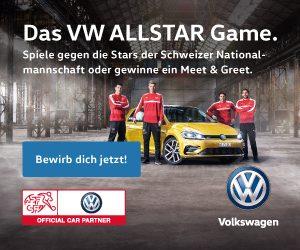 Gewinnen Sie eine VW ALLSTAR Game-Teilnahme, und treten Sie gegen Ausnahmetalente wie Shaqiri oder Rodriguez in unterschiedlichen Fussball-Disziplinen an.