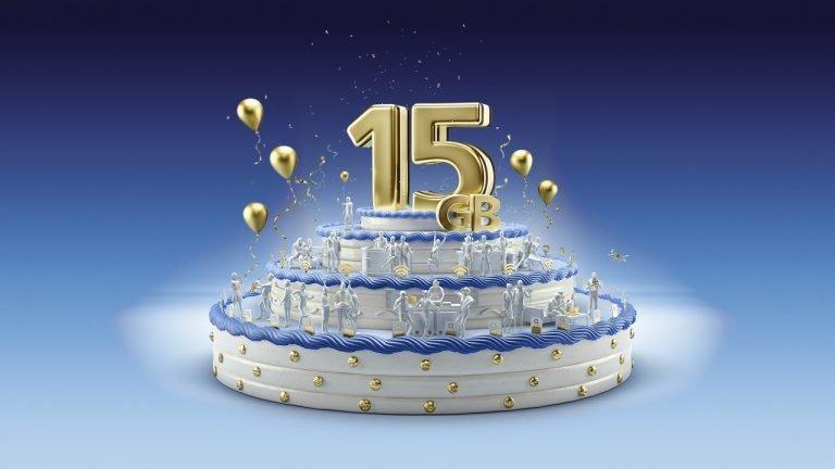 Beim o2 Geburtstags-Tarif aus Anlass des 15. Geburtstags des Mobilfunkanbieters erhalten Sie jetzt 15 GB (!!) Highspeed-Datenvolumen im Tarif o2 Free 15!