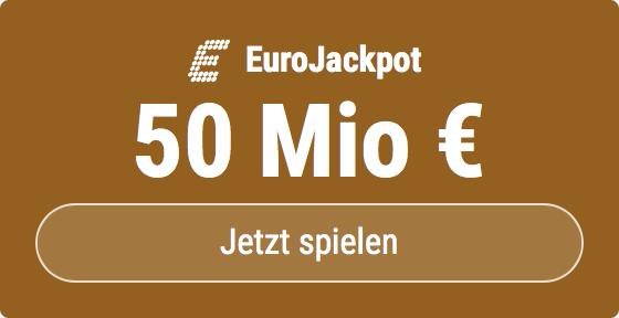 Im EuroJackpot werden 50 Millionen EUR ausgespielt. Bei Tipp24 zahlen Neukunden nur 2,50 EUR statt 12,50 EUR für ihren ersten Tippschein. JETZT MITMACHEN!