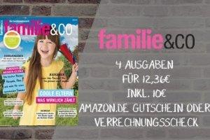 Im Familie & CO Abo erhalten Sie jetzt 4 Ausgaben für supergünstige 2,36 EUR statt 12,36 EUR. Hier finden Sie hilfreiche Ratschläge z.B. zum Thema Erziehung