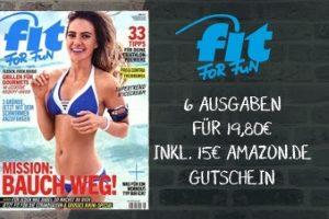 Für günstige 4,80 EUR erhalten Sie jetzt das Fit for Fun Abo. 6 Ausgaben des Magazins lesen und Tipps & Tricks in Sachen Fitness & Lifestyle entdecken