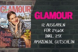 """Glamour Abo kostenlos: Testen Sie 12 Ausgaben von Glamour, dem Stylemagazin. Und das kostenlos! Die """"Lieferung frei Haus"""" ist im Preis enthalten!"""