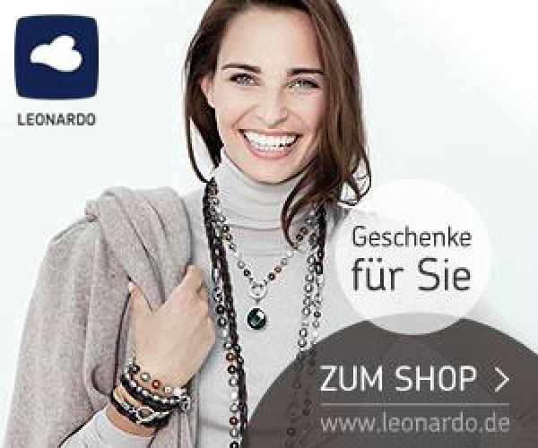 Im Leonardo-Sale können Sie einen Rabatt von 20% auf die Geschenkgutscheine im Wert von 50 EUR und 25 EUR in Anspruch nehmen. Eine ideale Geschenk-Idee!