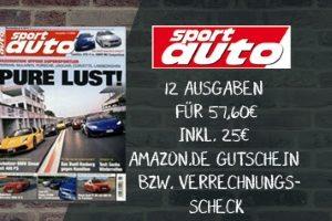 Sport Auto Abo für 25 EUR günstiger! Zahlen Sie somit für das Jahresabo des Automagazins nur 32,60 statt 57,60 EUR. Lesen Sie alles rund ums Auto.
